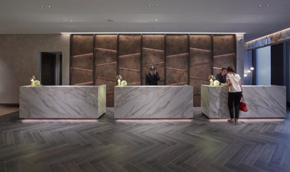 Lobby at the </br>Hilton Hotel Milan